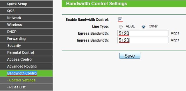 Как ограничить скорость интернета и Wi-Fi на роутере через Bandwidth Control?