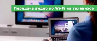 Передача видео по Wi-Fi на телевизор