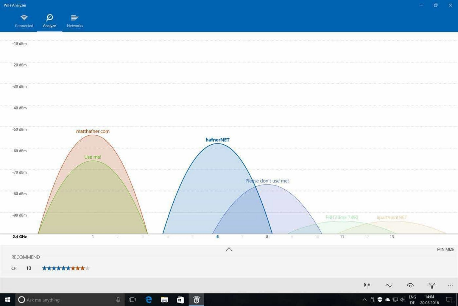WiFi Analyzer и Wi-Fi анализаторы для Windows 7, 10 и Android