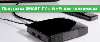 Приставка SMART TV с Wi-Fi для телевизора