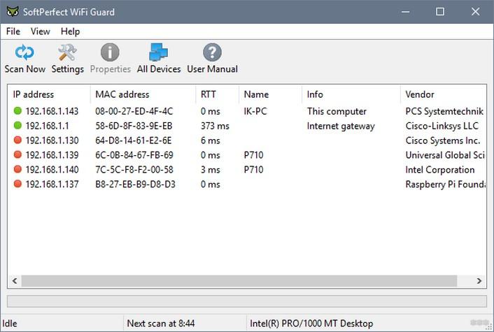 SoftPerfect WiFi Guard: обзор программы-защитника Wi-Fi сетей
