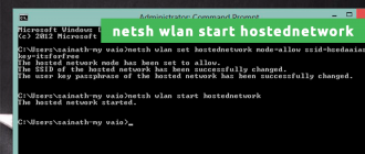 netsh wlan start hostednetwork