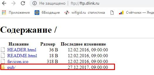 ftp.dlink.ru – FTP-сервер для обновления прошивок D-Link