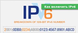Как включить IPv6
