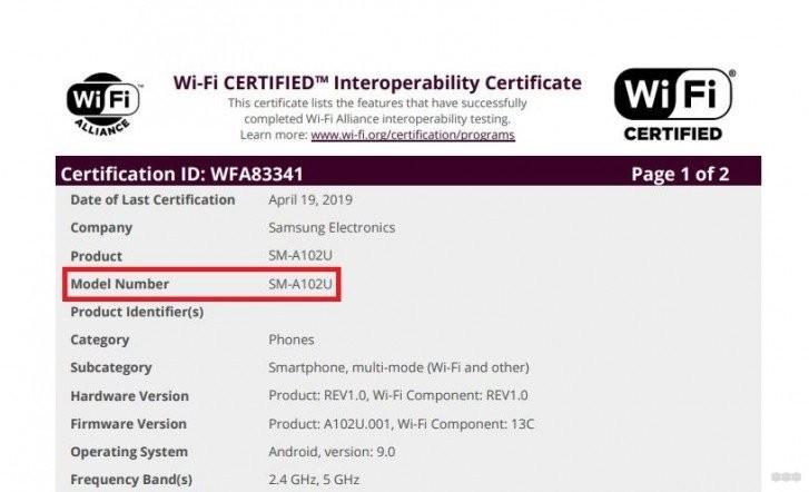 Сертификация Wi-Fi выдала новый бюджетный смартфон от Samsung