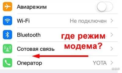 Не включается режим модема на iPhone 6: советы от WiFiGid