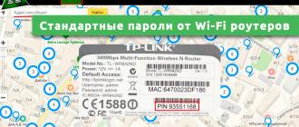 Стандартные пароли от Wi-Fi роутеров