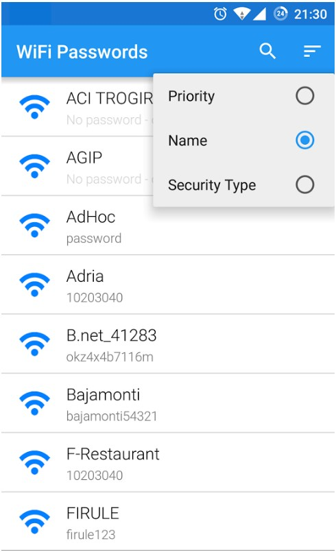 Wi-Fi Password: программа для просмотра WiFi пароля на Android