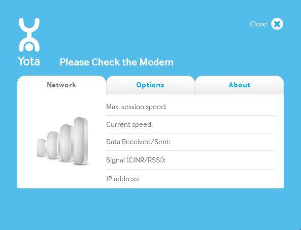 Приложение для Yota модема: программа Yota Access