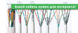 Какой кабель нужен для интернета в квартире