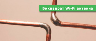 Биквадрат Wi-Fi антенна