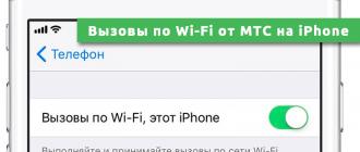 Вызовы по Wi-Fi от МТС на iPhone