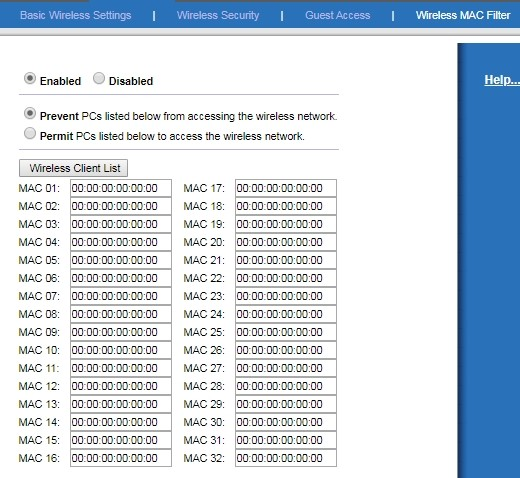 Роутер Linksys E1200: настройка, блокировка Web-адресов и устройств по MAC адресу