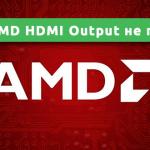 AMD HDMI Output не подключено