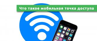 Что такое мобильная точка доступа