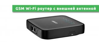 GSM Wi-Fi роутер с внешней антенной
