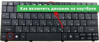 Как включить динамик на ноутбуке