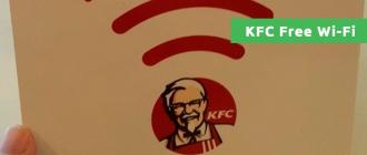 KFC Free Wi-Fi
