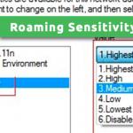 Roaming Sensitivity Level Wi-Fi