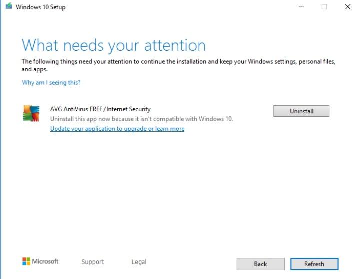 Wi-Fi и Bluetooth не дают обновить Windows 10 до пакета 1909