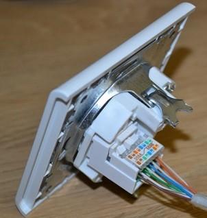 Подключение интернет-розетки RG-45 к сетевому кабелю: схема подключения