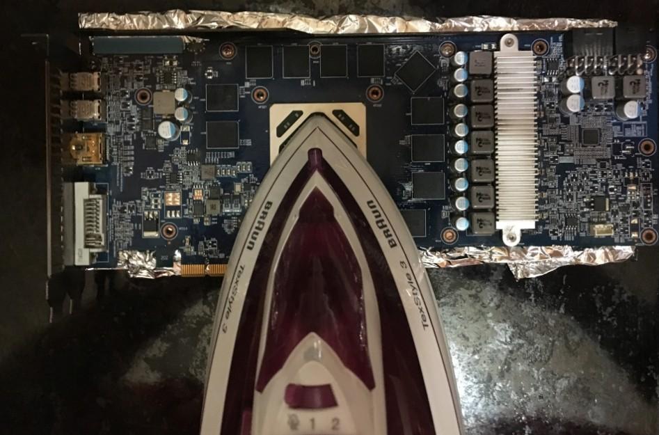 Прогрев видеокарты утюгом, или домашний ремонт артефактов на экране от Бородача