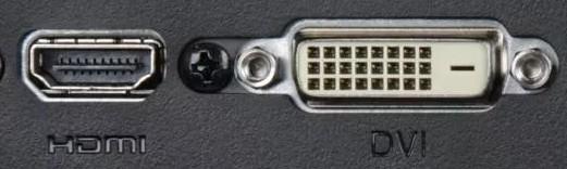 HDMI и DVI порт