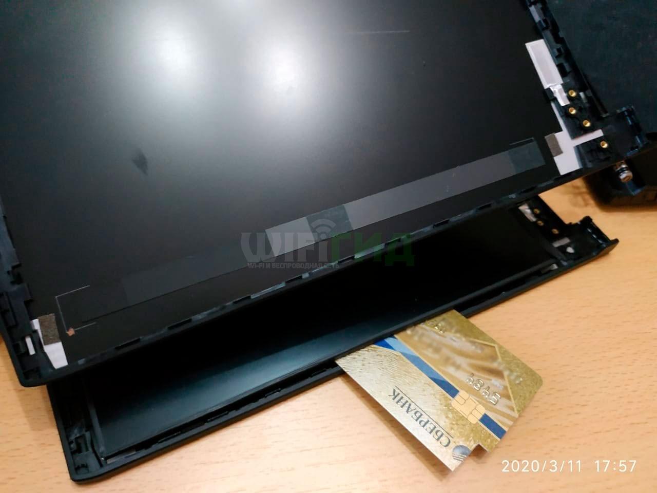 Замена крышки на ноутбуке MSI GF63 8RD из-за отрыва петли