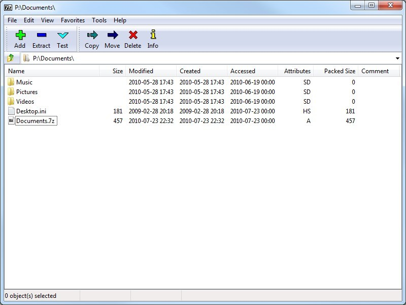 Распаковка архива с помощью 7 ZIP