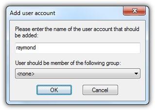 Add User account - FileZilla Server