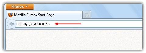 Доступ к FTP серверу через браузер по IP
