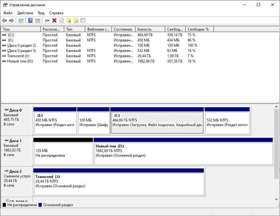 Разделение диска на Windows