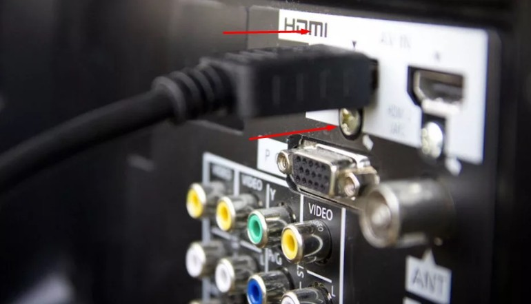 Подключение HDMI кабеля к телевизору