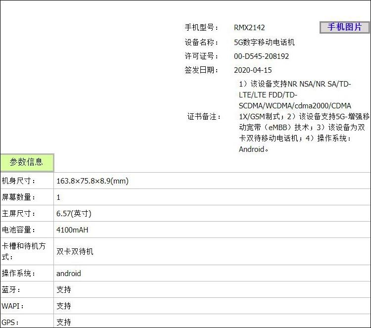 Новый Realme с поддержкой 5G прошел сертификацию