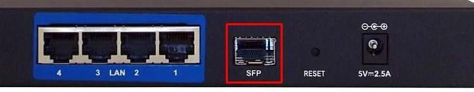 SFP порт на маршрутизаторе