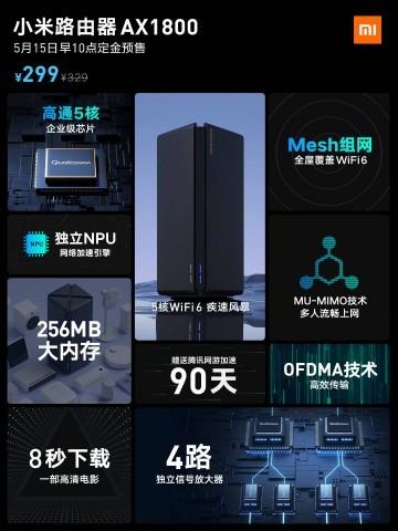 Xiaomi начнет продажи нового бомбезного роутера с поддержкой Wi-Fi 6