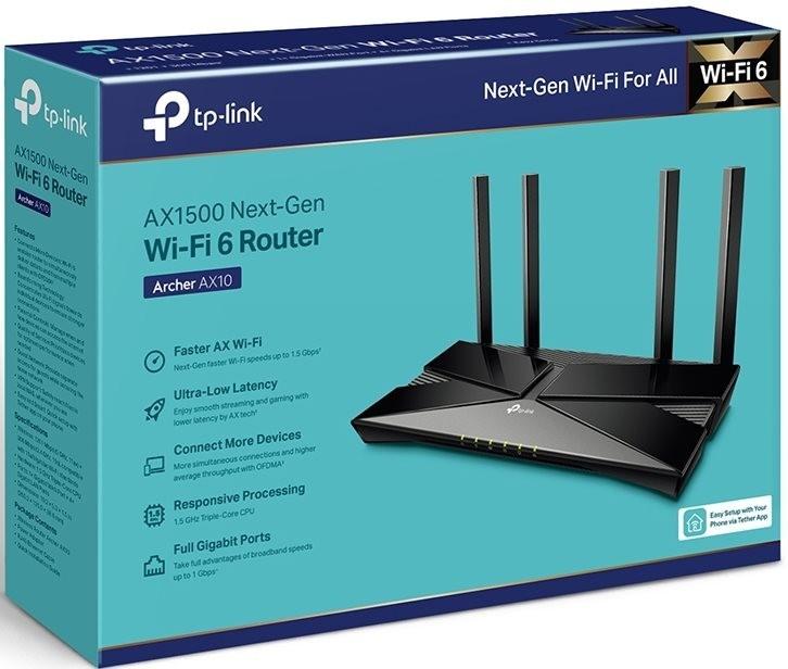 TP-Link представил в России бюджетный Wi-Fi 6 роутер AX10