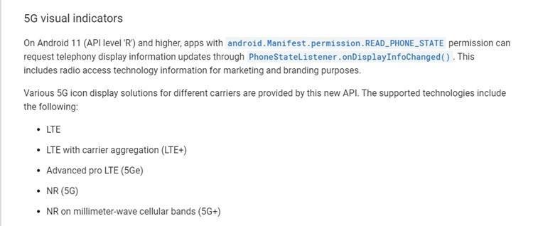 Android 11 научится распознавать три вида 5G сетей, одна из которых не относится к 5G
