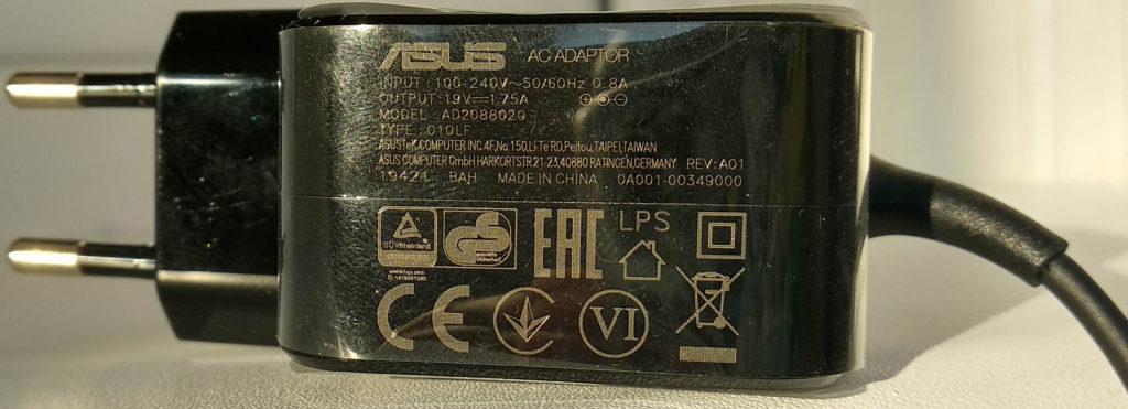 Блок питания (Характеристики) ASUS RT-AX82U
