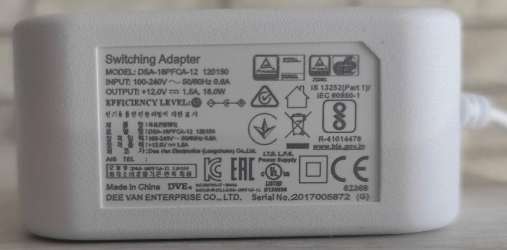 Блок питания MESH-комплект ASUS ZenWiFi AX Mini (XD4)