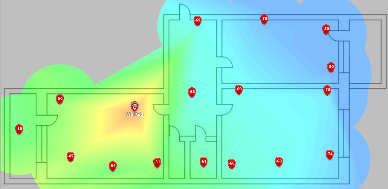 Deco X20 Покрытие Wi-Fi. 5 ГГц. 1 модуль.