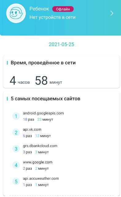 TP-Link - просмотр посещенных сайтов