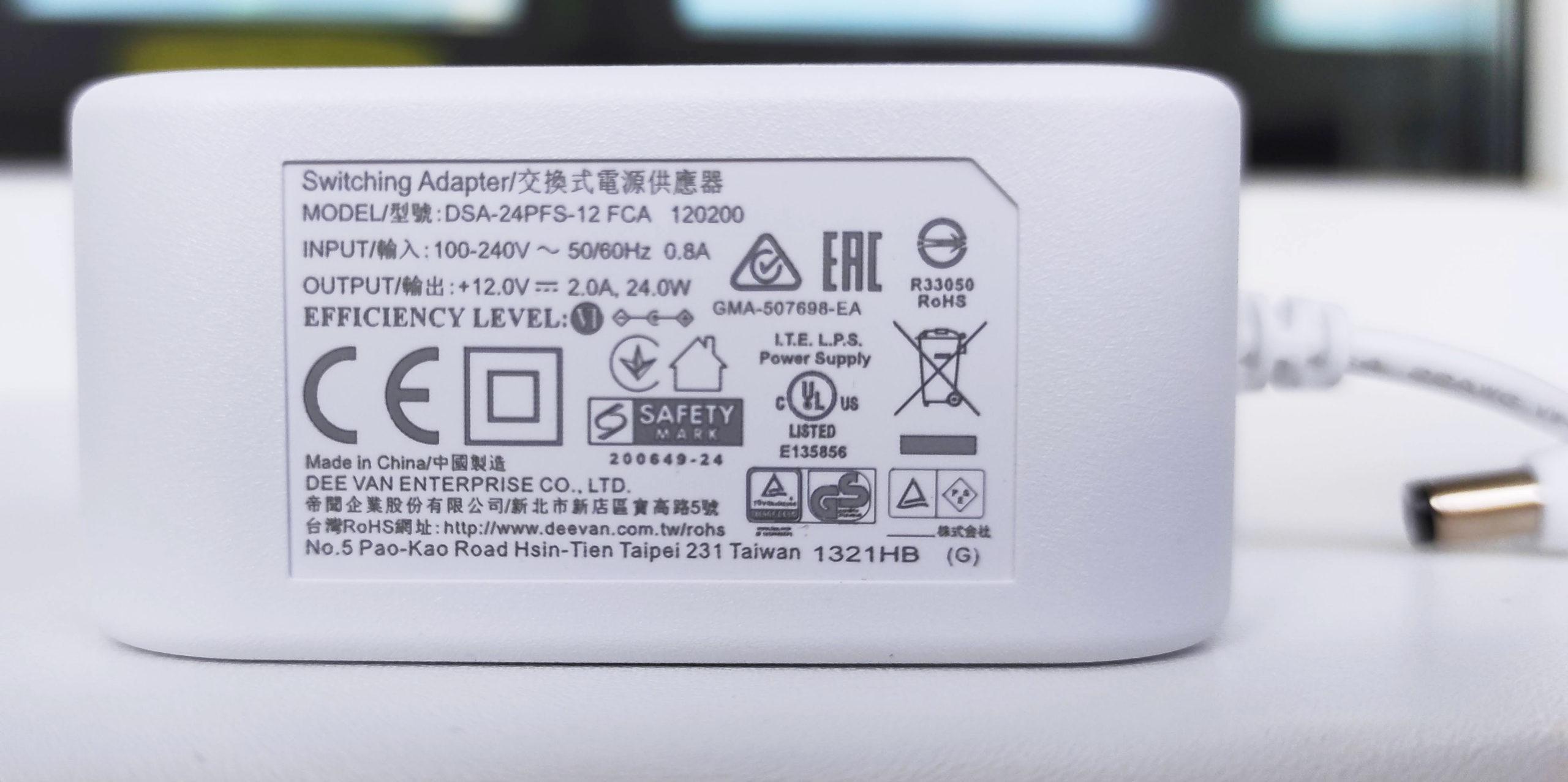 Характеристики блока питания ASUS ZenWiFi XD6