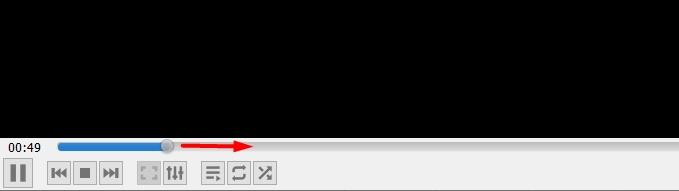 VLC Идет процесс сохранения видео